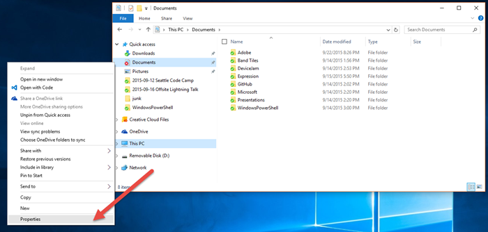 Moving desktop and downloads to onedrive for Documents folder to onedrive